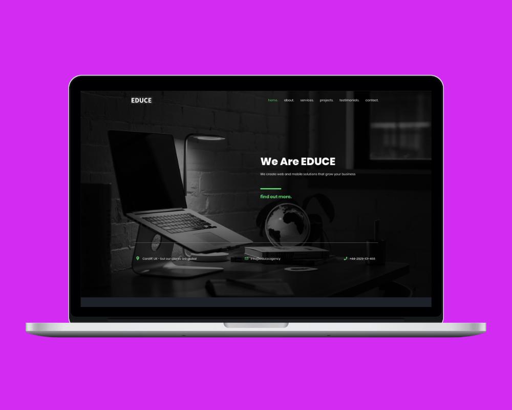 Cardiff web design Educe website